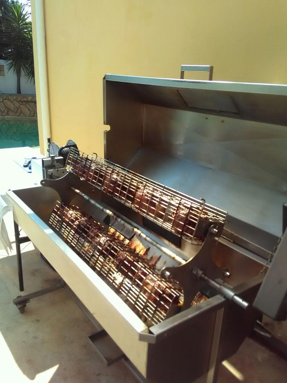 Wood Amp Coal Spit Braai Smoker Spit Braai Catering Cape